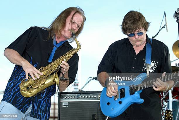 Firefall saxophonist David Muse and singer/guitarist Jock Bartley perform at Lite 1005 FM's Sparks in the Park A Tribute to Americans event at the...