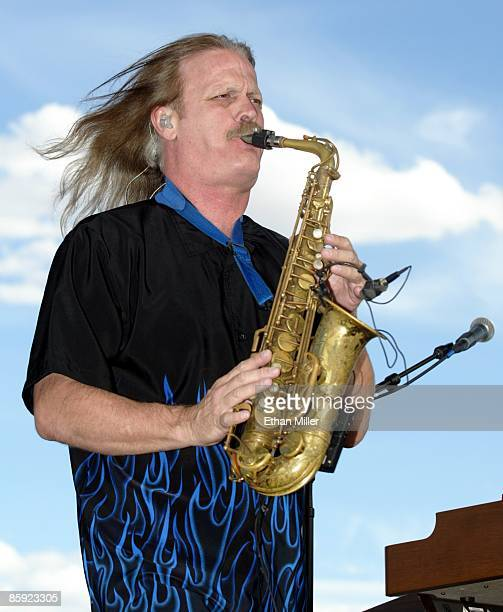 Firefall saxophonist David Muse performs at Lite 1005 FM's Sparks in the Park A Tribute to Americans event at the Sam Boyd Stadium practice fields...
