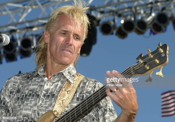 Firefall singer/bassist Bill Hopkins performs at Lite 1005 FM's Sparks in the Park A Tribute to Americans event at the Sam Boyd Stadium practice...