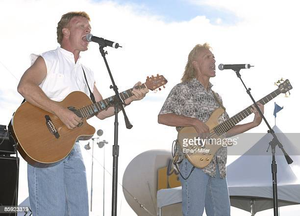 Firefall singer/guitarist Steve Weinmeister and singer/bassist Bill Hopkins perform at Lite 1005 FM's Sparks in the Park A Tribute to Americans event...