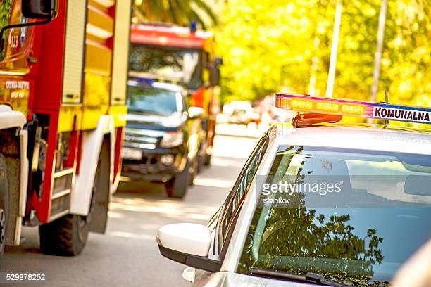 Firefigher voiture blinker lumières d'urgence