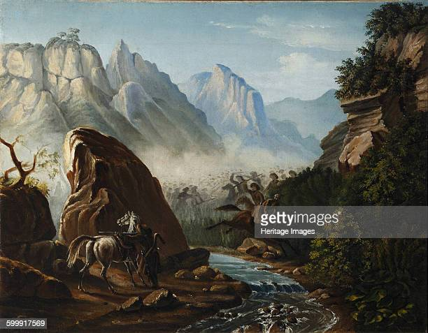 Firefight in the mountains of Dagestan 18401841 Found in the collection of State Central Literary Museum Moscow Artist Lermontov Mikhail Yuryevich