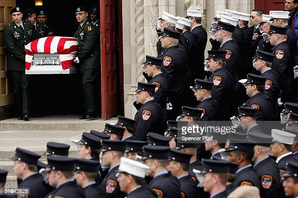 firefighter and army sgt. christian engeldrum laid to rest - pallbearer stock pictures, royalty-free photos & images