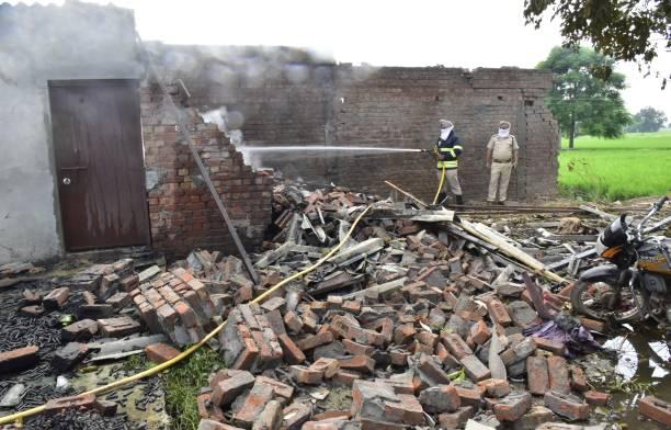 IND: Massive Explosion At A Firecracker Factory In Ibban Kalan Village