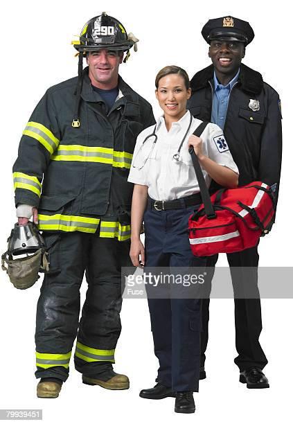 Firefighter, EMT, and Police Officer