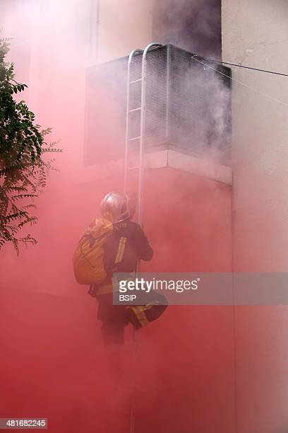 Firefighter exercises and training