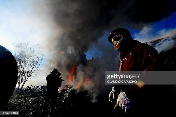Firefighter on duty at a favela in São José dos Campos. No one was hurted.