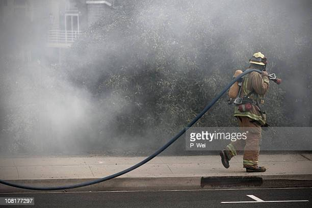 firefighter - california wildfire stock pictures, royalty-free photos & images