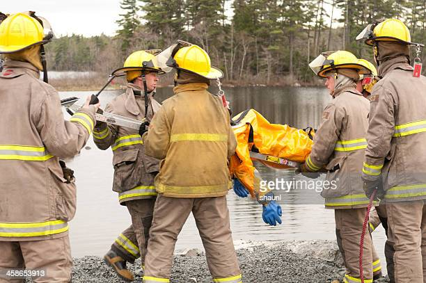 firefighter training excercise - drowning victim photos stock photos and pictures