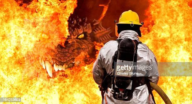 Firefighter vs Dragon