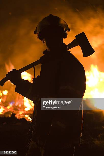 Firefighter with axe 2