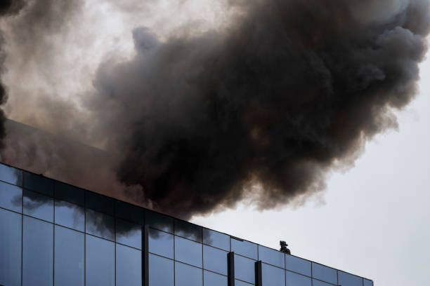 DC: Fire Crews Work To Put Out Fire On High-Rise Building Under Construction In D.C.