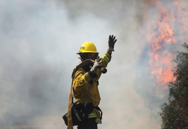 CA: Silverado Fire In Orange Country, California Forces Evacuations