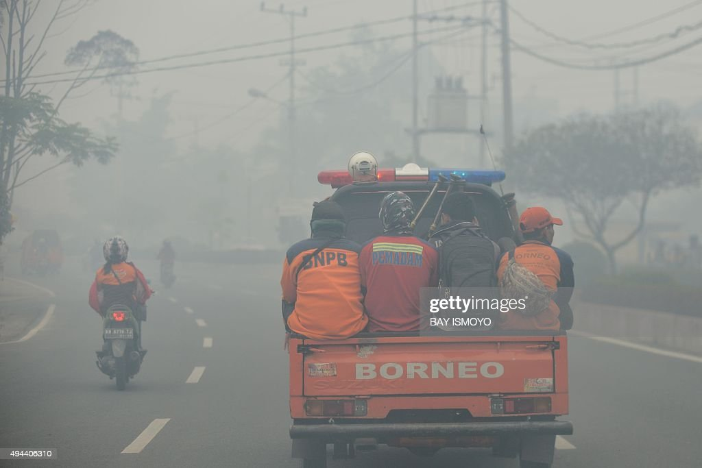 INDONESIA-ENVIRONMENT-POLLUTION-HAZE : News Photo