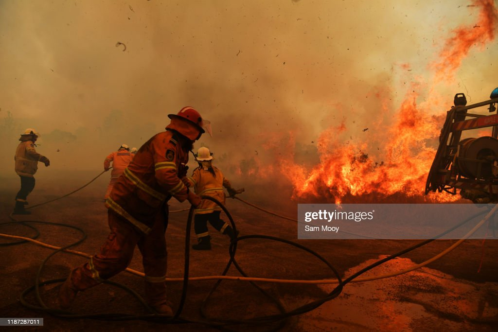 Bushfires Continue To Burn Across NSW As Catastrophic Fire Conditions Ease : News Photo