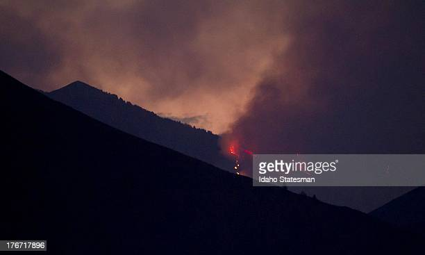 Firefighters continue to battle the Beaver Creek Fire in the Wood River Valley of Blaine County near Hailey Idaho Saturday August 17 2013