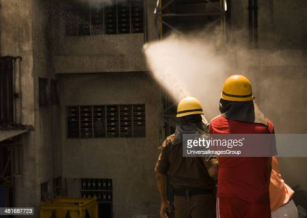Firefighters during a rescue operation Gurgaon Haryana India