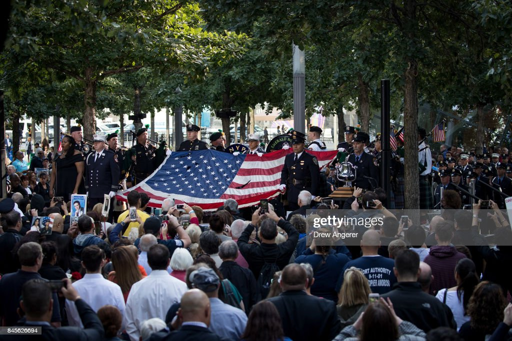 16th Annual Commemoration Ceremony Held At WTC Site For 9/11 Terror Victims : News Photo