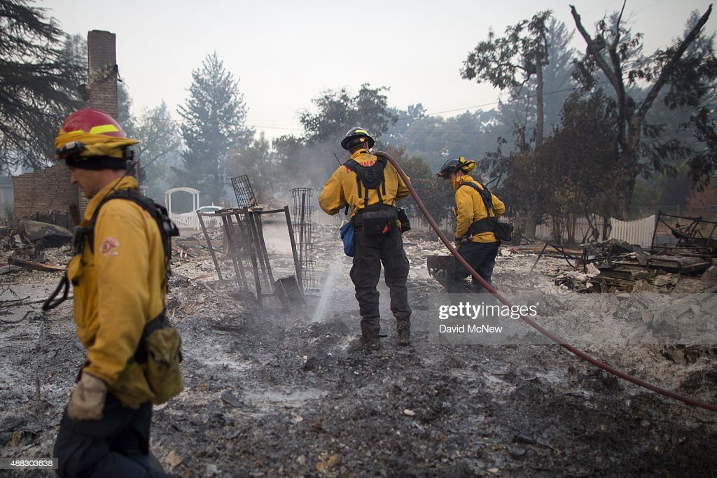Fast-Moving Wildfire Brings Destruction To Lake County, CA : News Photo