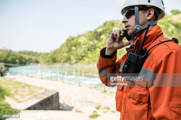 firefighters in a rescue operation training - rescue worker stock pictures, royalty-free photos & images