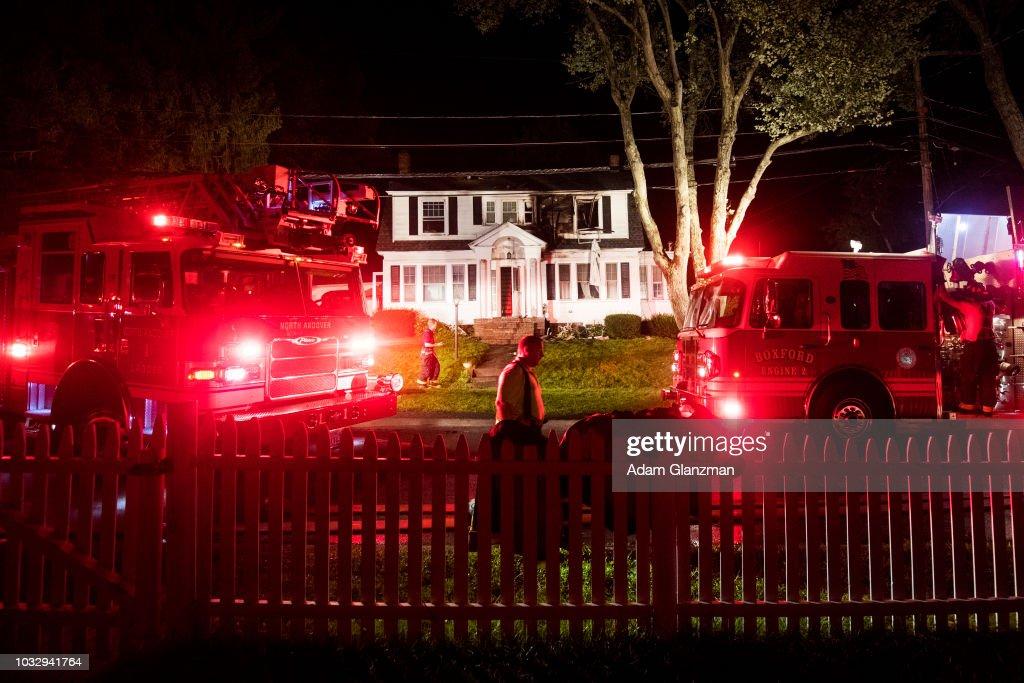 Dozens Of Gas Explosions Rock Massachusetts Towns : News Photo
