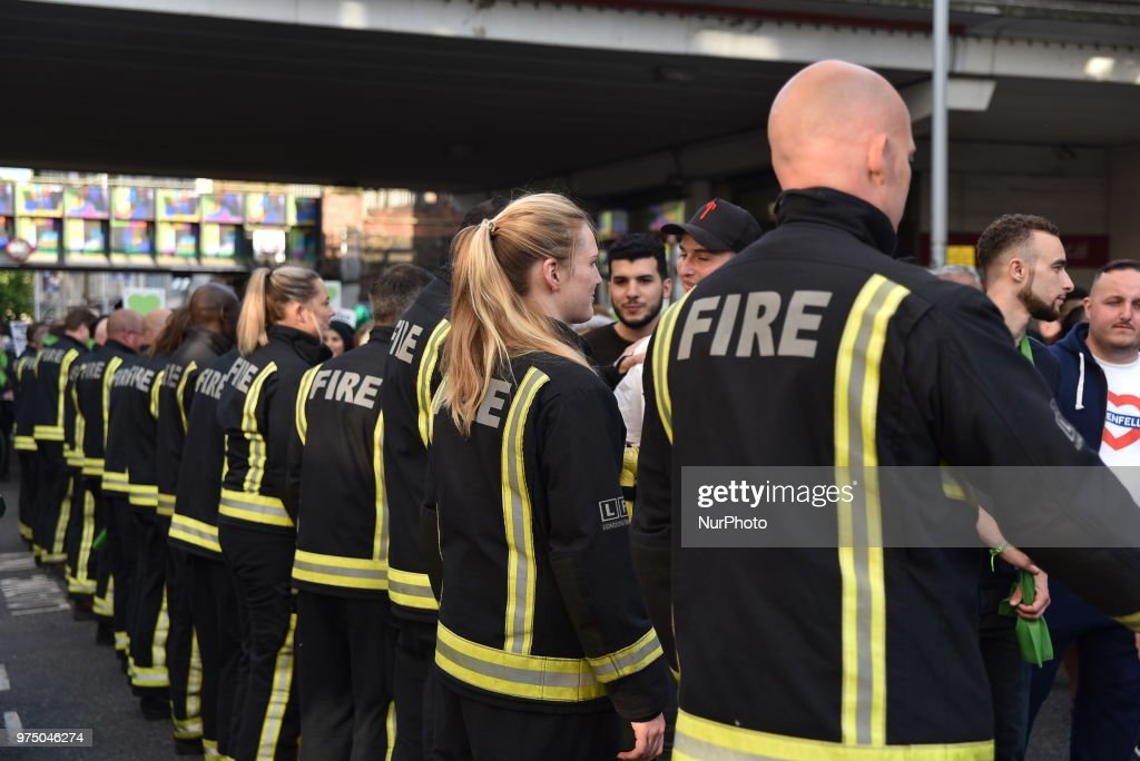 Grenfell Tower - One Year On : News Photo