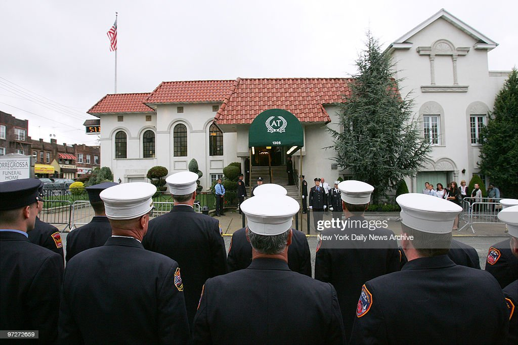 Firefighters Line The Street Outside Andrew Torregrossa Sons News Photo Getty Images