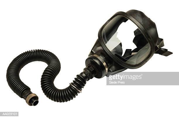 firefighter's oxygen mask - zuurstofmasker stockfoto's en -beelden