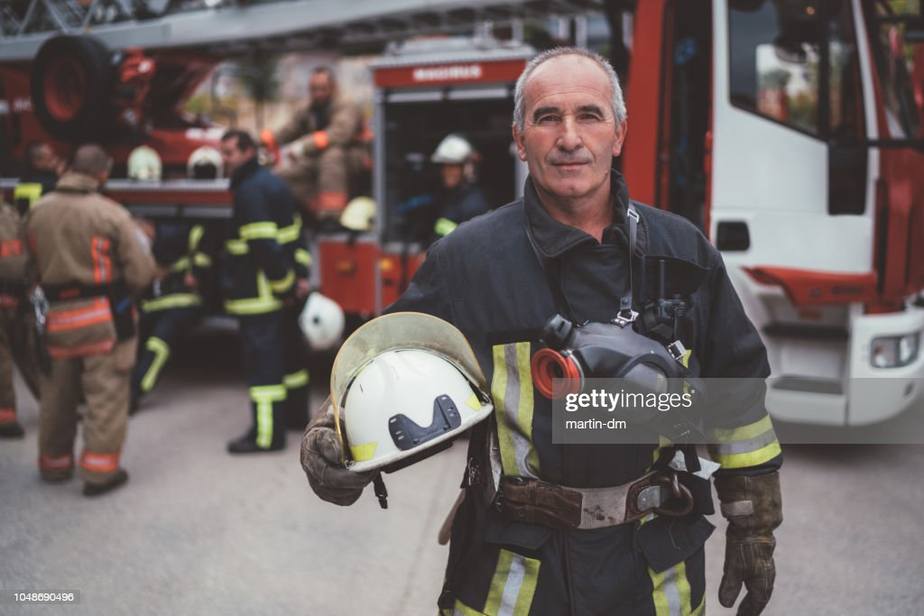 消防士の肖像画 : ストックフォト