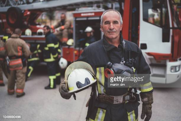 Firefighter's portrait