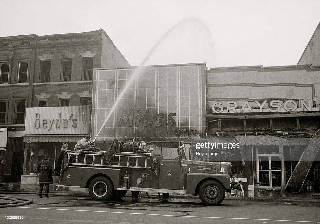 Aftermath Of The 1968 Riots : News Photo