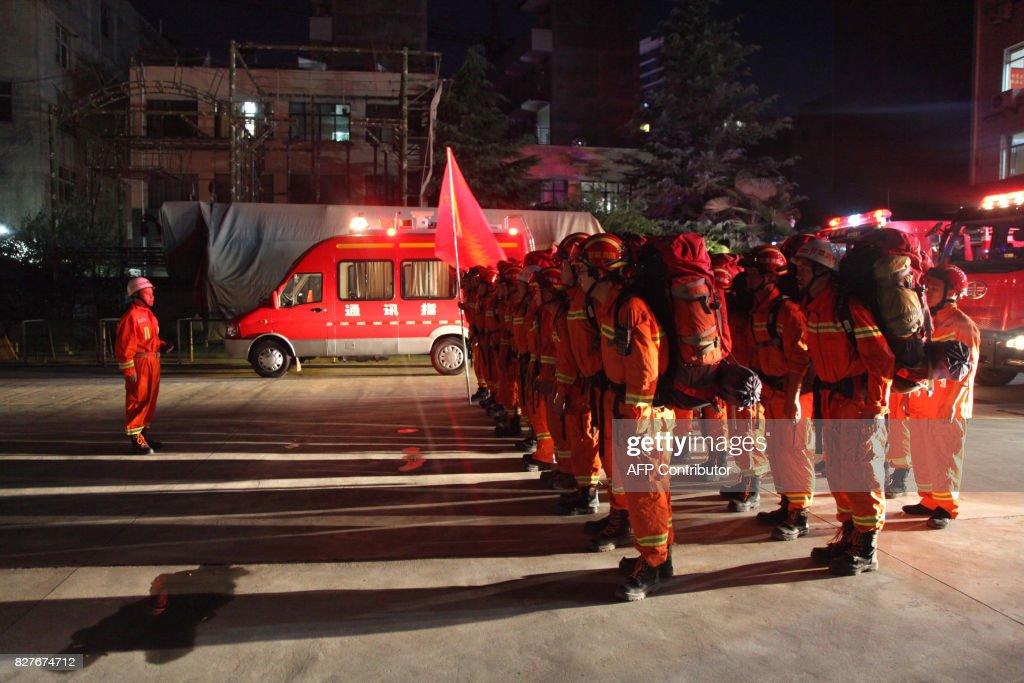 TOPSHOT-CHINA-QUAKE : News Photo
