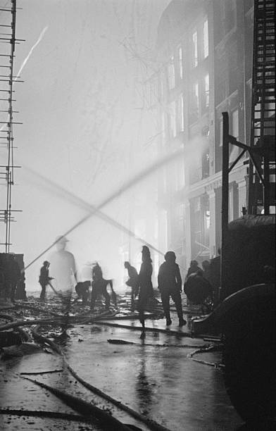 Firefighting During The Blitz Wall Art