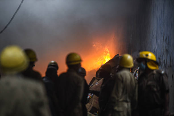 IND: Fire Breaks Out At Plastic Factory In Mayapuri Phase-2 Area Delhi