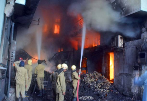 IND: Fire Breaks Out At Three Garment Factory In Ludhiana