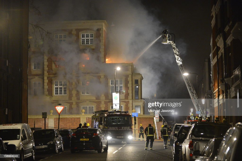 Fire In Notting Hill, London - January 5, 2013