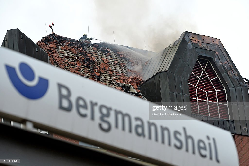 Fire Kills Two In Bochum Hospital : News Photo