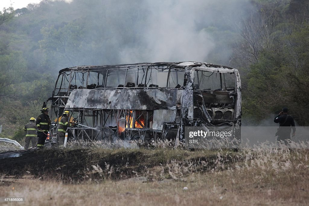 MEXICO-CRIME-VIOLENCE-FIRE : News Photo
