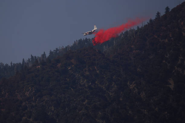 CA: Firefighters Battle The Apple Fire In Southern California