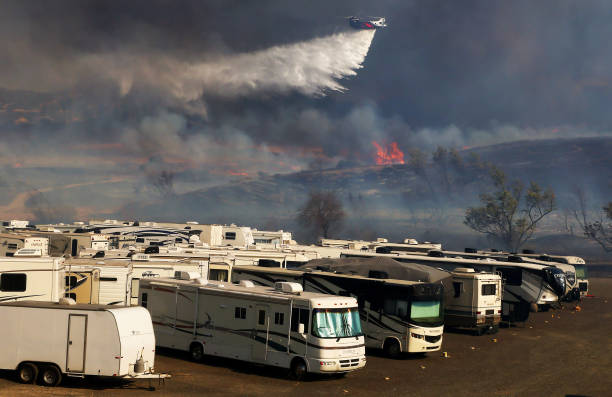 CA: Santa Ana Winds Stokes Multiple Wildfires In Southern California