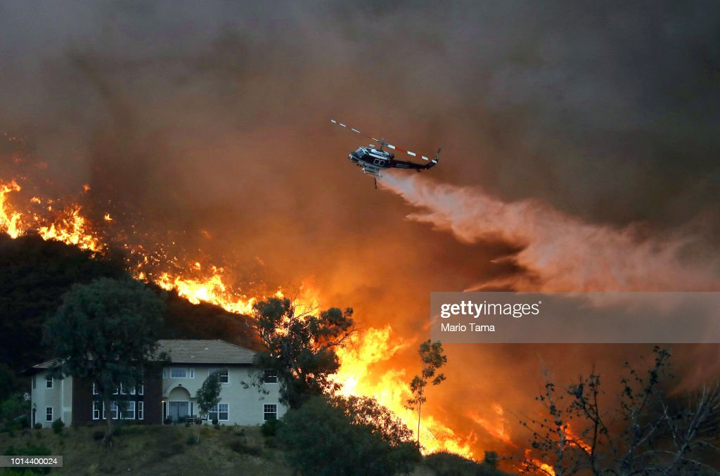 Record Heat Fuels Holy Fire In Southern California, Threatening Homes : News Photo