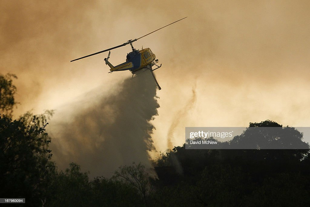 Springs Fire In Southern California Gains Strength, Continues To Threaten Homes : News Photo