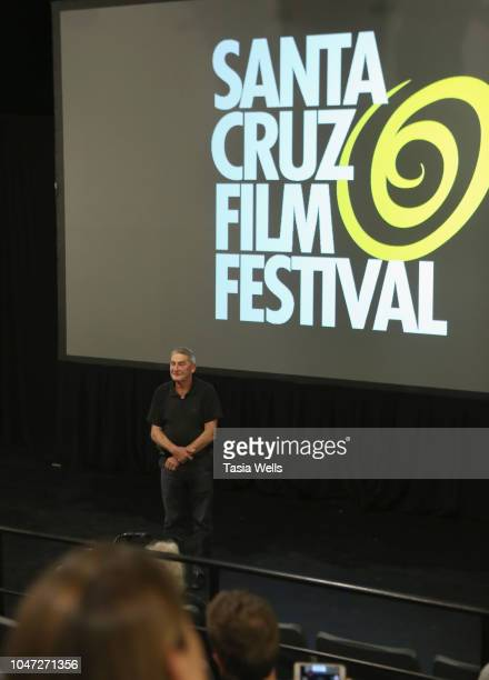 'Fireland Dogs' director Juan Dickinson speaks onstage at the 2018 Santa Cruz Film Festival on October 7 2018 in Santa Cruz California