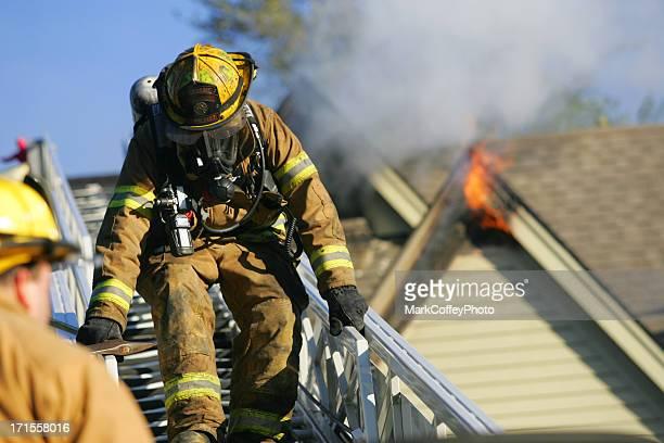 Fireman at a fire
