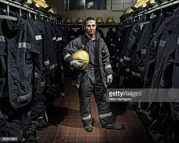 Fireman at Fire Station