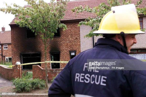 A fireman at the scene where a woman and 3 children died after fire ripped through their family home The blaze in Shildon County Durham broke out...