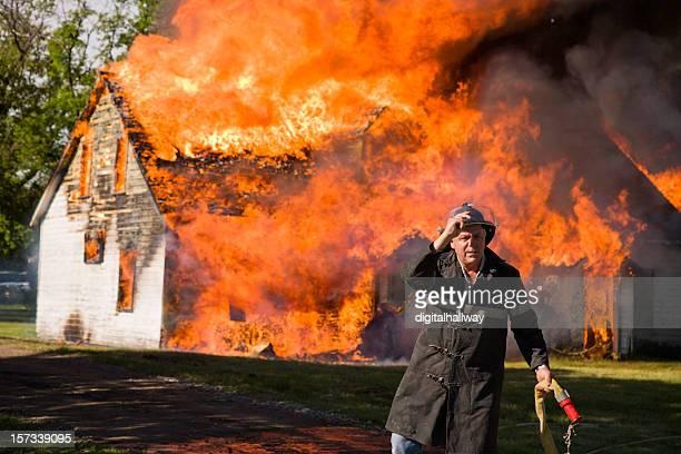 Fireman Giving Up