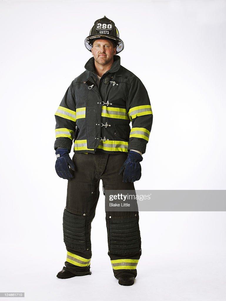 Fireman in Uniform : Foto de stock