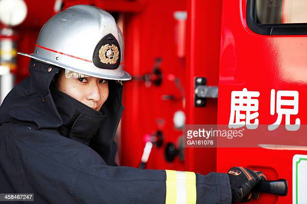 Fireman looking at camera