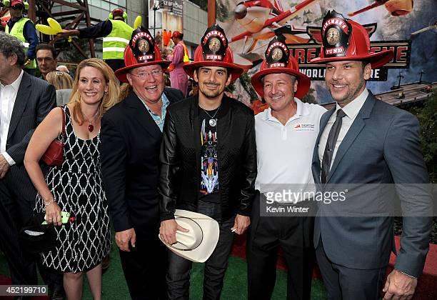 Fireman's Fund Insurance Company Brand Manager Shoni Honodel Pixar chief creative officer/Executive Producer John Lasseter singer Brad Paisley...